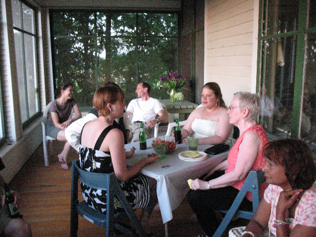 gathering discussion at Oaklawn Inn